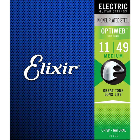 Image of Elixir Optiweb Nickel Plated Steel Electric Guitar Strings - Various Gauges - Music 440