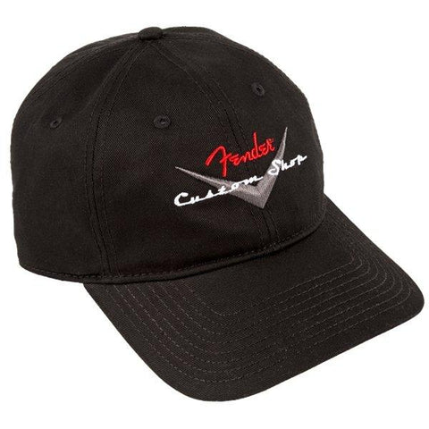 Fender Custom Shop Baseball Hat, Black, One Size Fits Most - Music 440