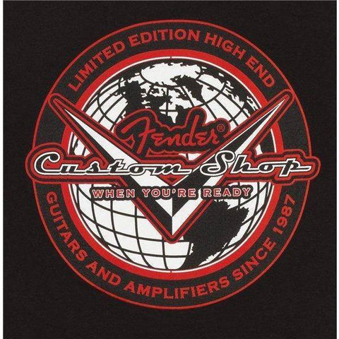 Fender Custom Shop Globe Black T-Shirt - XL - Music 440