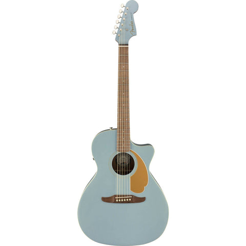 Fender Newporter Player Acoustic Guitar - Ice Blue Satin - Music 440