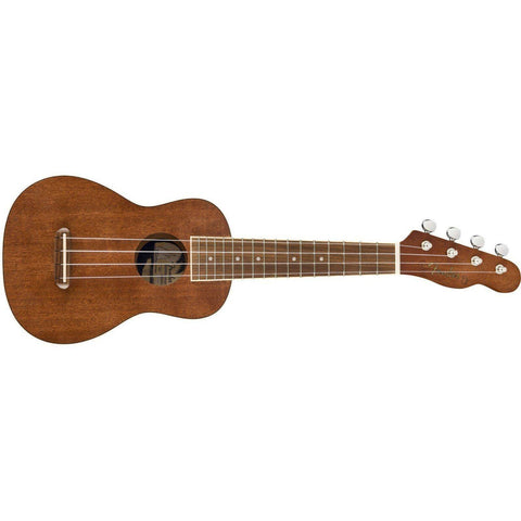 Fender Seaside Soprano Ukulele Pack, Walnut Fingerboard, Natural - Music 440