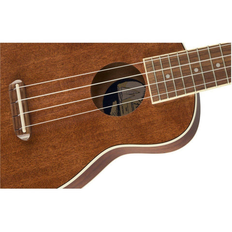 Image of Fender Seaside Soprano Ukulele Pack, Walnut Fingerboard, Natural - Music 440