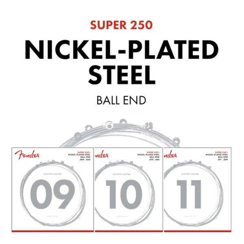 Fender Super 250's Nickel Plated Steel Strings - Various Gauges - Music 440