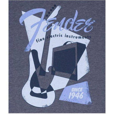 Image of Fender Vintage Geo 1946 T-Shirt, Blue XXL - Music 440