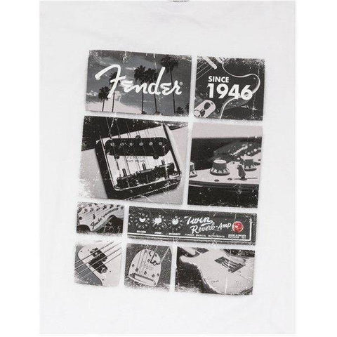 Fender Vintage Parts T-Shirt, White, XXL - Music 440