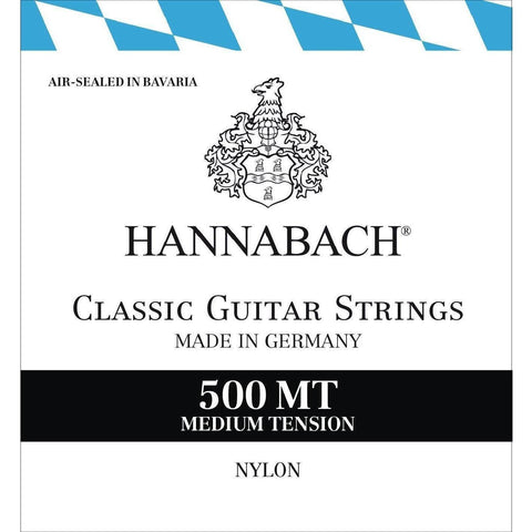 HANNABACH Medium Tension 500MT Classical Guitar Strings - Music 440