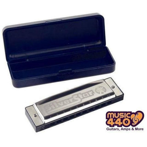 Image of Hohner Silver Star 10-Hole Diatonic Harmonica - Music 440