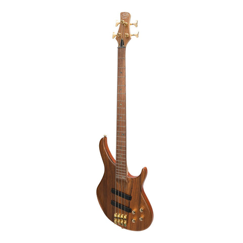 Image of J&D Luthiers 21 Series 4-String Contemporary Active Electric Bass Guitar - Natural Satin - Music 440