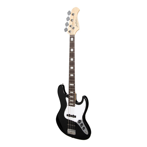 J&D Luthiers 4-String JB-Style Electric Bass Guitar - Black - Music 440