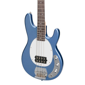 J&D Lutheirs 4-String MM-Style Electric Bass Guitar - Metallic Blue - Music 440