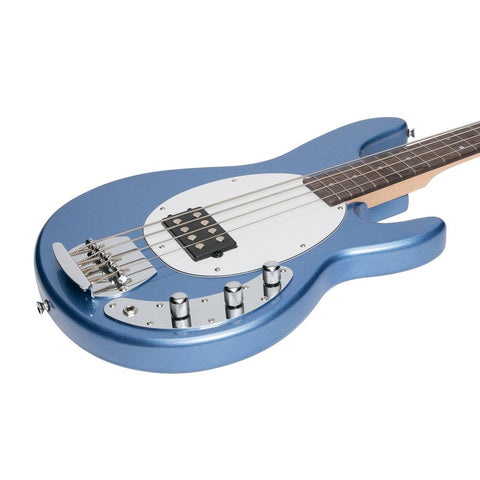 Image of J&D Lutheirs 4-String MM-Style Electric Bass Guitar - Metallic Blue - Music 440