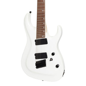 J&D Luthiers MF7 7-String Contemporary Multi-Scale Electric Guitar - White - Music 440