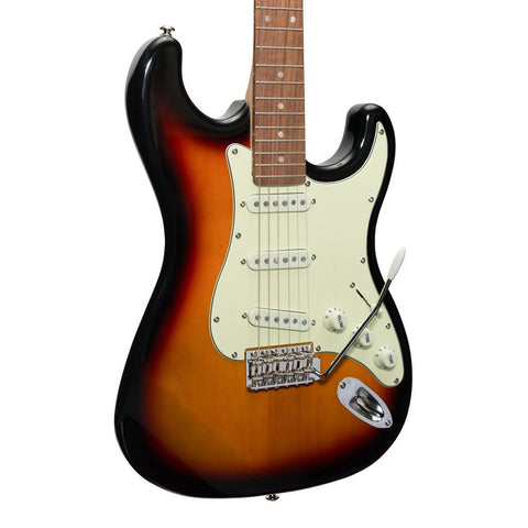 J&D Luthiers Traditional ST-Style Electric Guitar - Sunburst