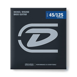 Jim Dunlop Bass Guitar Strings - 5 String Set - 45-125 - Music 440