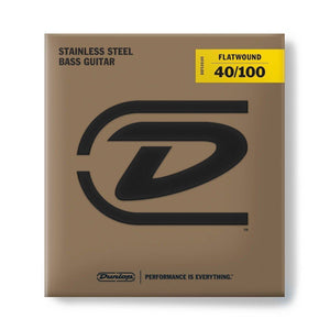 Dunlop Stainless Steel Flatwound Bass Strings - Various Gauges - Music 440
