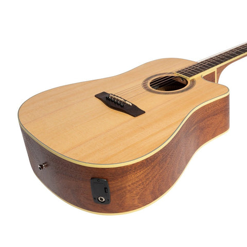 Image of Martinez '41 Series' Dreadnought Cutaway Acoustic-Electric Guitar - Spruce/Rosewood - Music 440