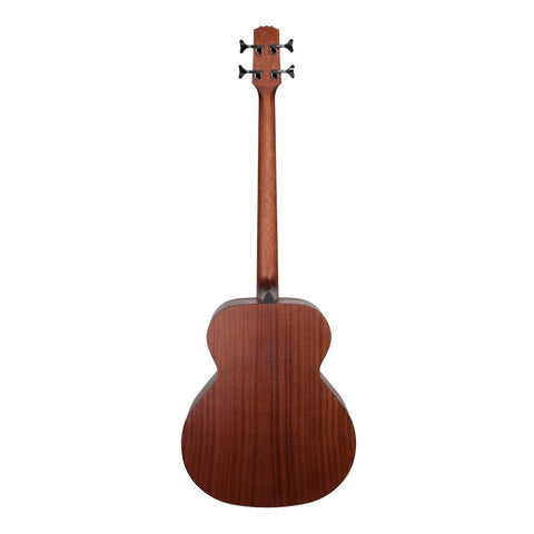 Martinez 'Natural Series' Solid Spruce Top Acoustic/Electric Bass Guitar - Open Pore