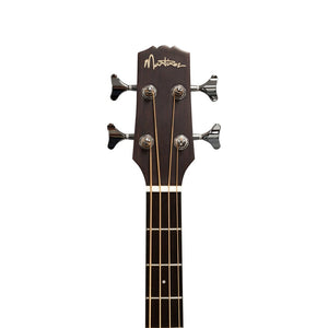 Martinez 'Natural Series' Solid Spruce Top Acoustic/Electric Bass Guitar - Open Pore - Music 440