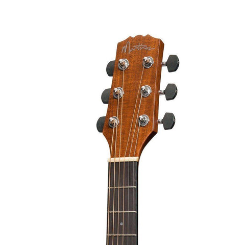 Image of Martinez 'Southern Star' Series Koa Solid Top Acoustic-Electric TS-Mini Guitar w/Hardcase - Natural Gloss - Music 440