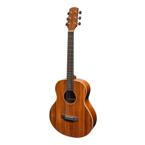 Martinez 'Southern Star' Series Koa Solid Top Acoustic-Electric TS-Mini Guitar w/Hardcase - Natural Gloss - Music 440