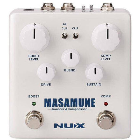 Image of NU-X Verdugo Series Masamune Analog Compressor & Booster Pedal - Music 440