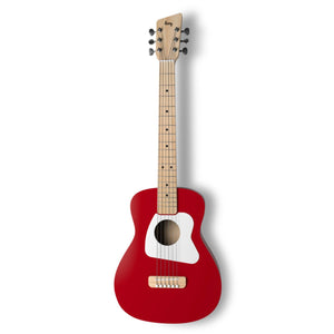 Loog Pro VI Acoustic Guitar w/ Chord Diagram Flash Cards - Red - Music 440