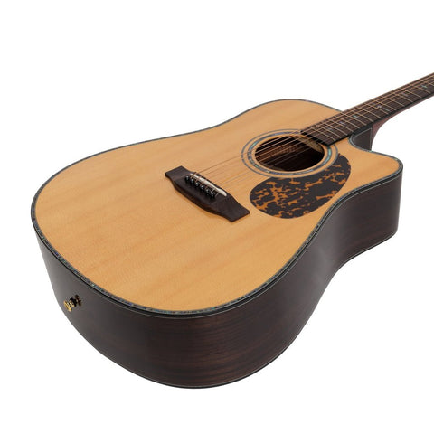 Image of Saga DS20C Solid Spruce Top Dreadnought C/E - Natural Gloss - Music 440