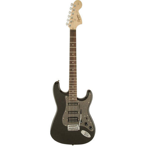 Squier Affinity Series Stratocaster, HSS, Laurel Fingerboard - Montego Black Metallic - Music 440