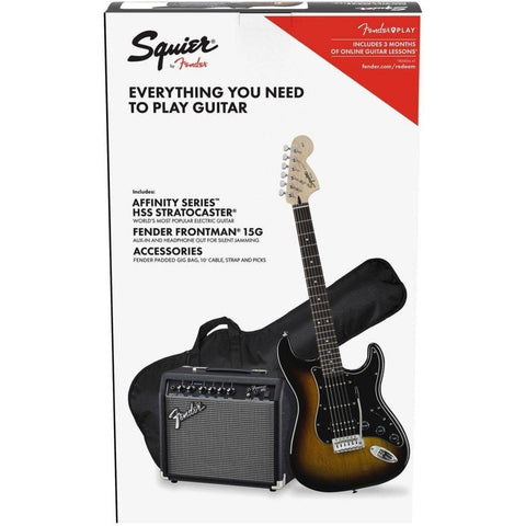 Squier Affinity Series Stratocaster HSS Pack - Brown Sunburst - Music 440
