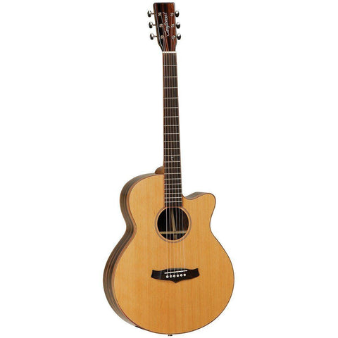 Image of Tanglewood Java Superfolk Cutaway Acoustic Electric Guitar - Music 440