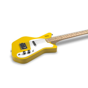 Loog Pro VI Electric Guitar w/Onboard Amp & Flash Cards - Yellow - Music 440