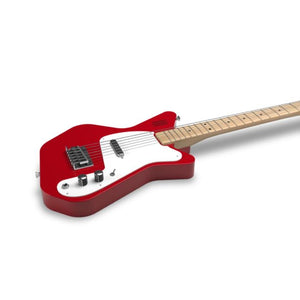 Loog Pro VI Electric Guitar w/Onboard Amp & Flash Cards - Red - Music 440