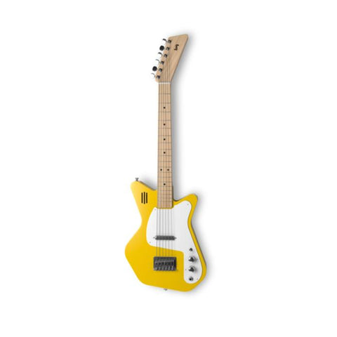 Image of Loog Pro VI Electric Guitar w/Onboard Amp & Flash Cards - Yellow - Music 440