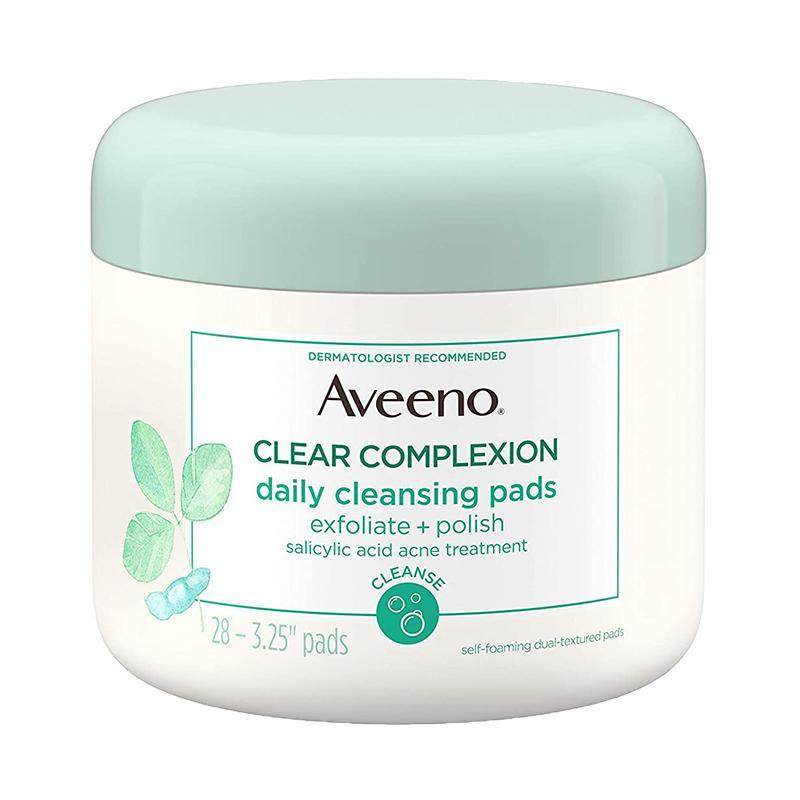 Aveeno Clear Complexion Daily Facial Cleansing Pads  28 ct