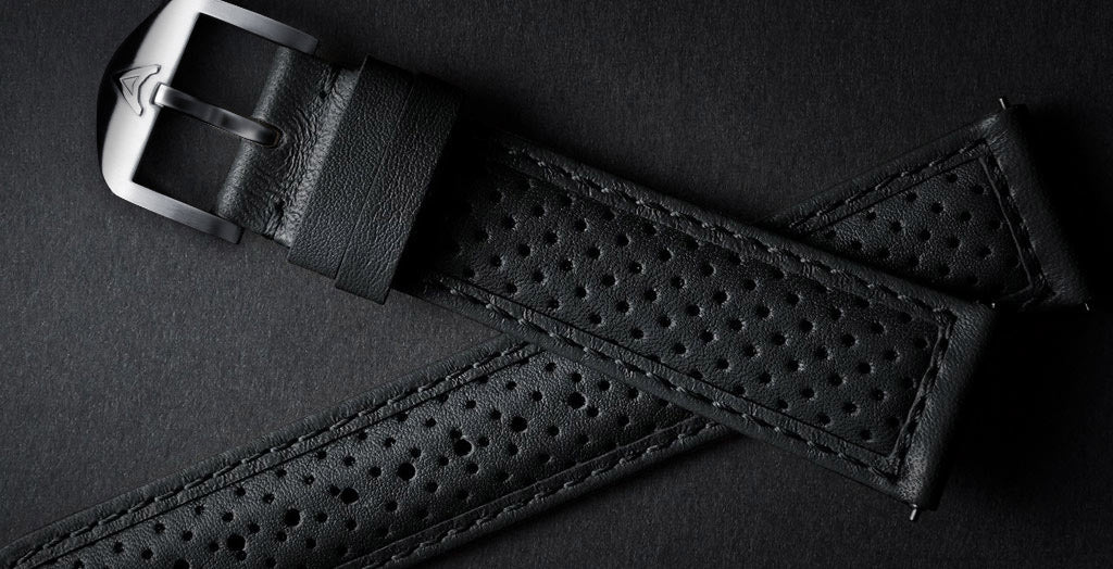 Black Perforated Strap