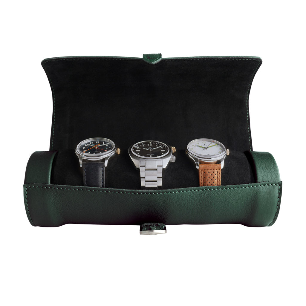 Racing Green Watch Roll
