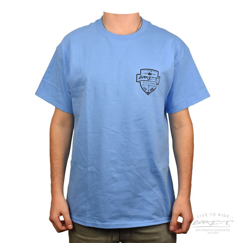 Grit Shield Logo Tee - Blue / Black