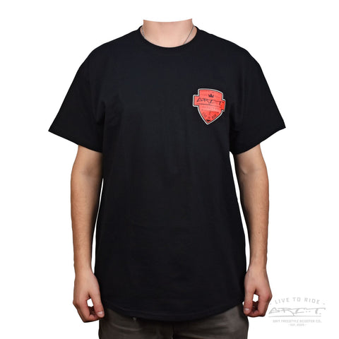 Grit Shield Logo Tee - Black / Red