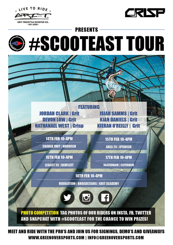 The #SCOOTEAST tour