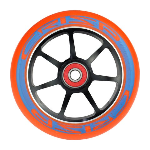 Crisp 5 Spoke Wheels Twin Pack - 110mm - Orange on Black