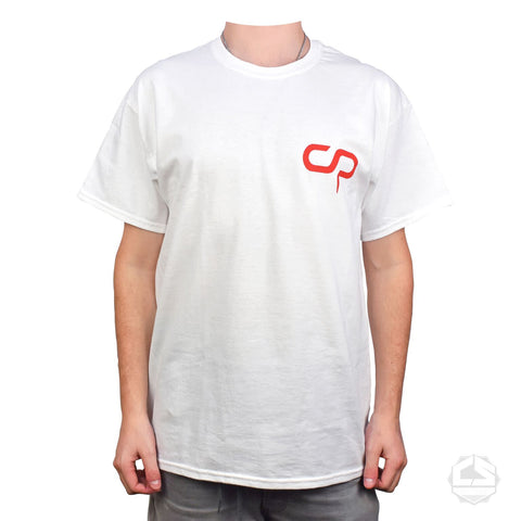 Crisp CS Logo Tee - White / Red
