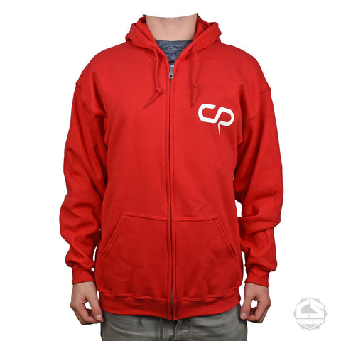 Crisp CS Logo Zip Hoody - Red / White