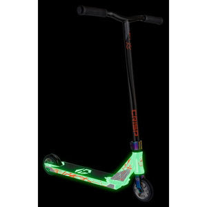 Crisp Glow In The Dark Inception Complete Scooter - White / Black Gold Metallic