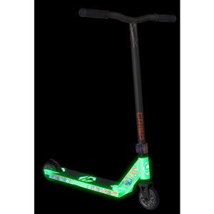 Crisp Glow In The Dark Blaster Complete Scooter - White / Satin Grey