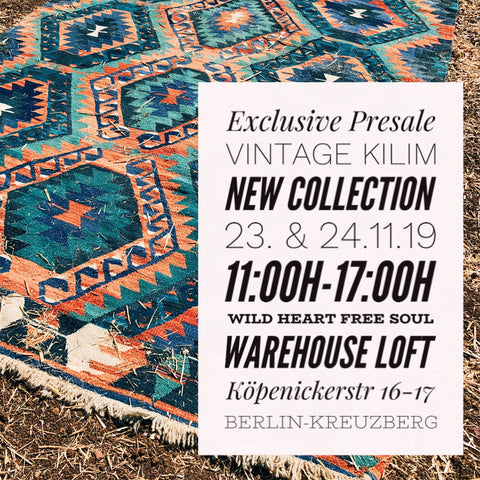 Vernissage und Presale Vintage Kelim Kollektion