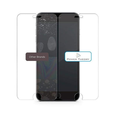 Power Theory Panzerglasfolie Passend für iPhone 8 Plus - Japanische 9H Panzerglas Folie, HD Displayschutzfolie/Panzerfolie, Tempered Glas Schutzglas, Schutzfolie Screen Protector Glass