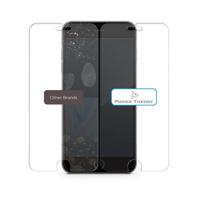 Power Theory Panzerglasfolie Passend für iPhone 8 Plus (2 Stück) - Japanische 9H Panzerglas Folie, HD Displayschutzfolie/Panzerfolie, Tempered Glas Schutzglas, Schutzfolie Screen Protector Glass
