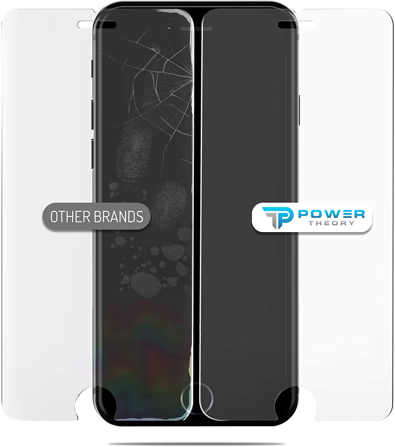 Power Theory Panzerglas kompatibel mit iPhone 8/iPhone 7 [2 Stück]