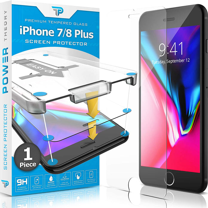 Power Theory Panzerglasfolie Passend für iPhone 7 Plus / 8 Plus (1stück)