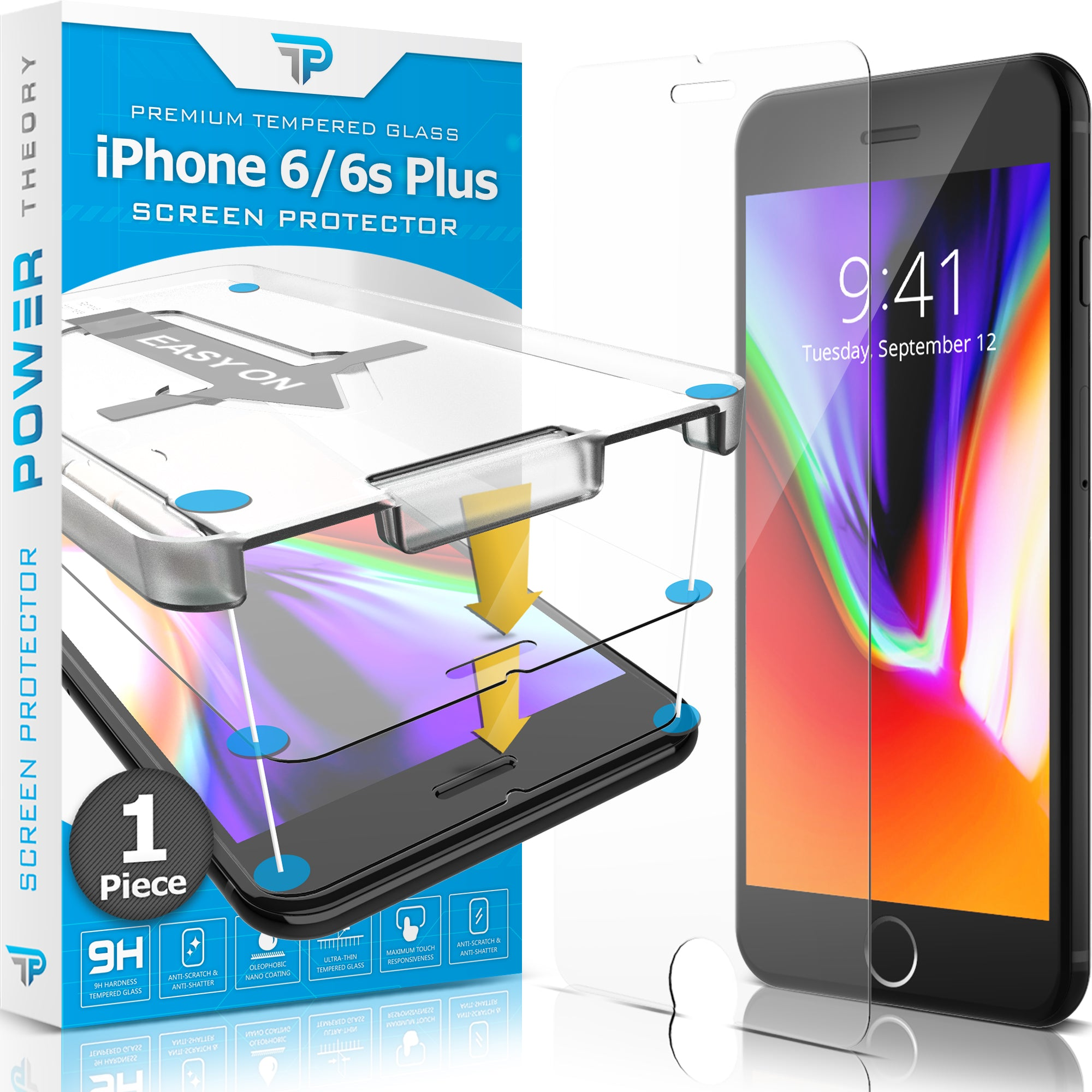 Power Theory Panzerglasfolie Passend für iPhone 6s Plus / 6 Plus